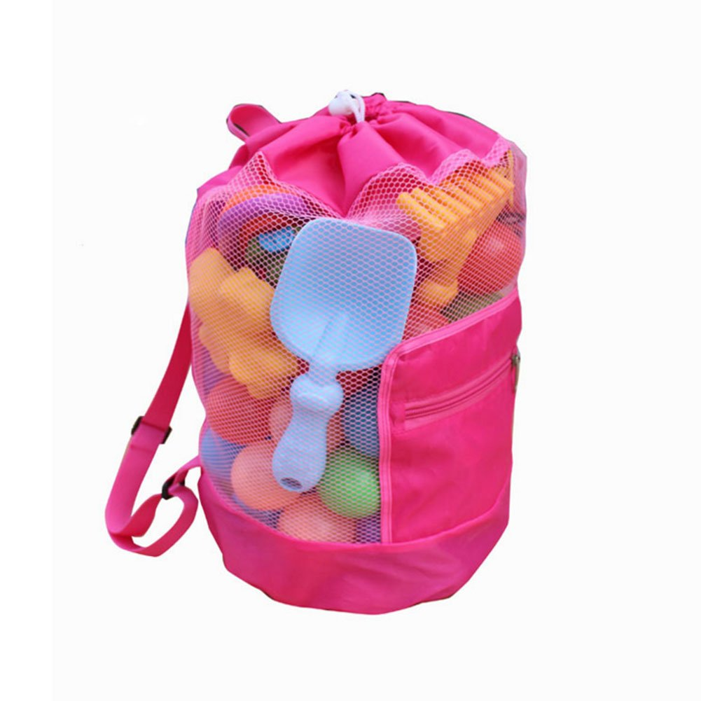 2197c45d545fcc Get Quotations · Kids Beach Bag Drawstring Backpack Large Mesh Durable Beach  Tote Bag Backpack Beach Toys Storage Bag