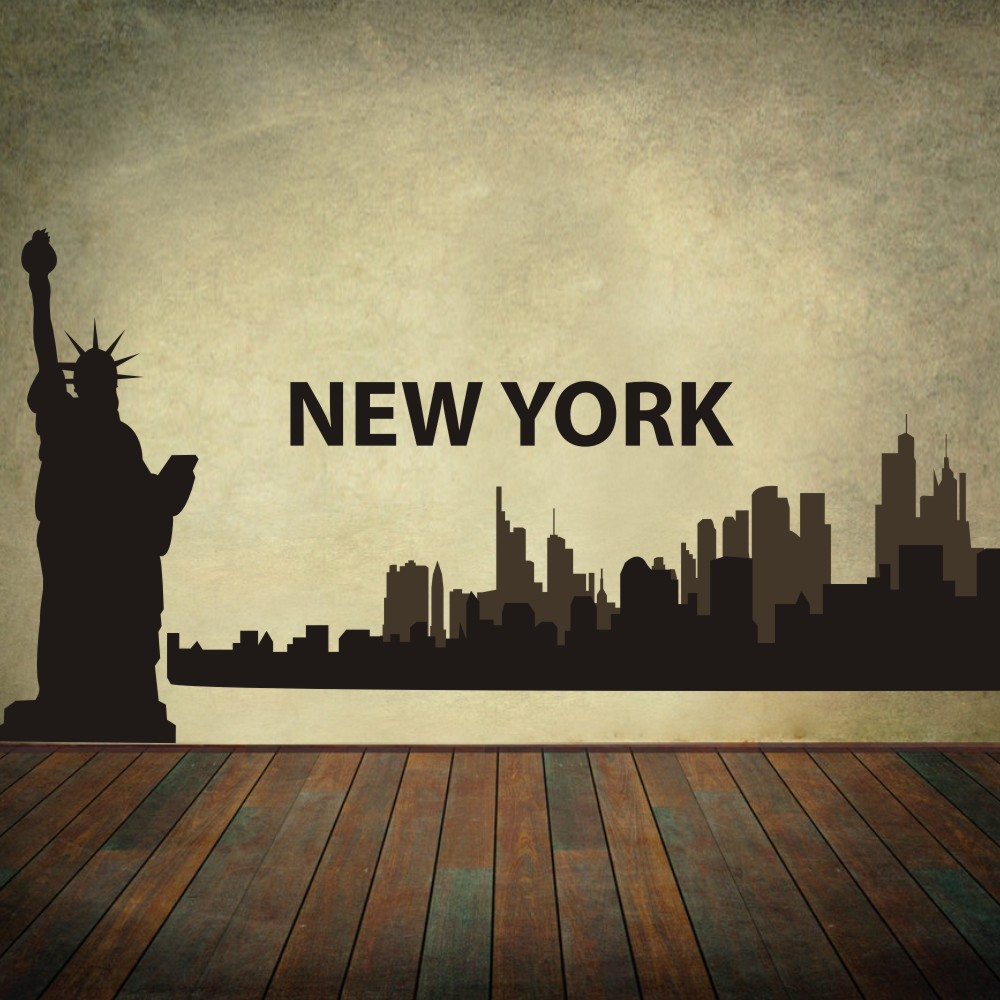 High Lights Of New York Skyline Canvas Wall Art: Aliexpress.com : Buy New York City Skyline Silhouette The