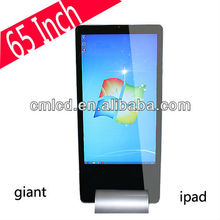65'' advertising player touch screen interactive win 8 kiosk