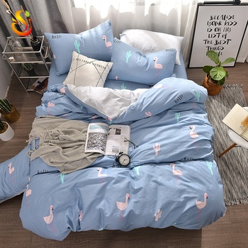 Twill Nordic Wind Quilt Cover Bed Supplies Printed Cartoon Bedding Sets