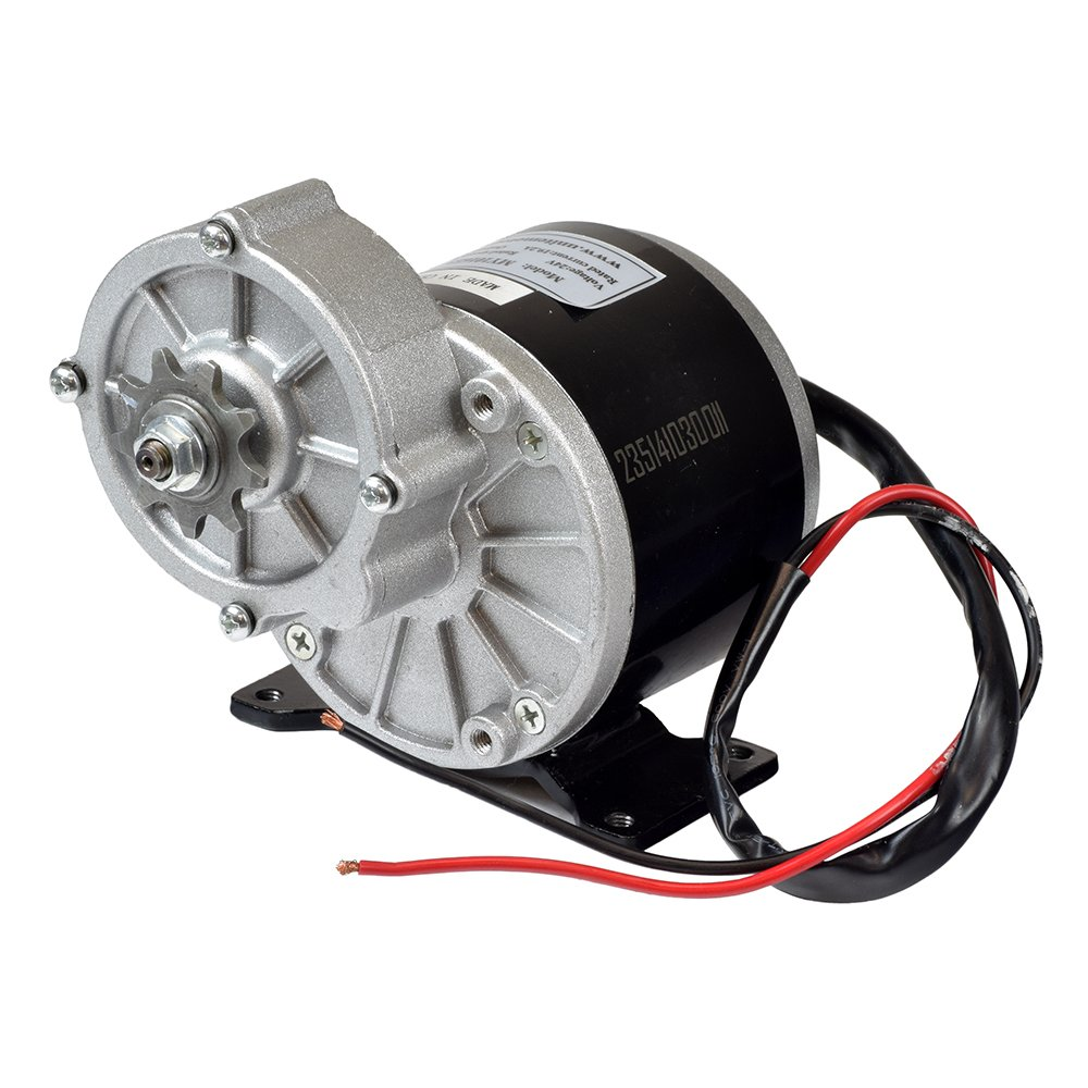 """Alvey 24 Volt 350 Watt MY1016Z3 Gear Reduction Electric Motor with 9 Tooth 1/8"""" Bicycle Chain Sprocket"""