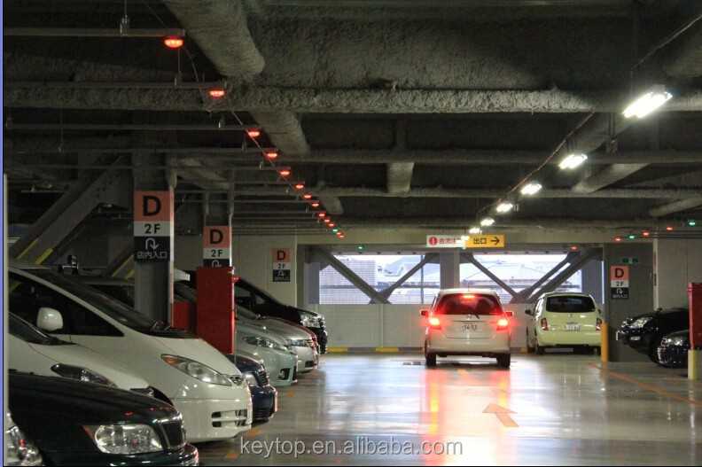 intelligent car park guiding system for searching free parking lots inside airport/shopping malls