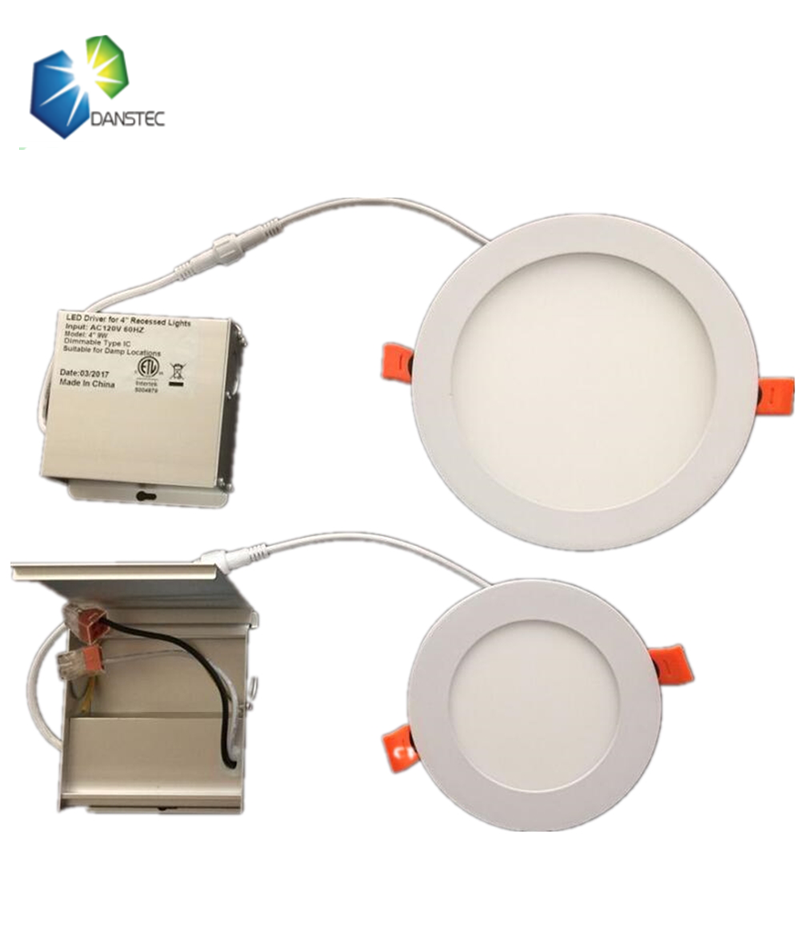 ETL(5004879) listed Energy star 4inch 9w led panel <strong>downlight</strong> with junction box driver