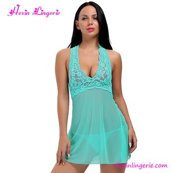 bed6ff99af60 Hot Sale Women Girl Nighty Night Sexy Lingerie Sleepwear - Buy Sexy ...