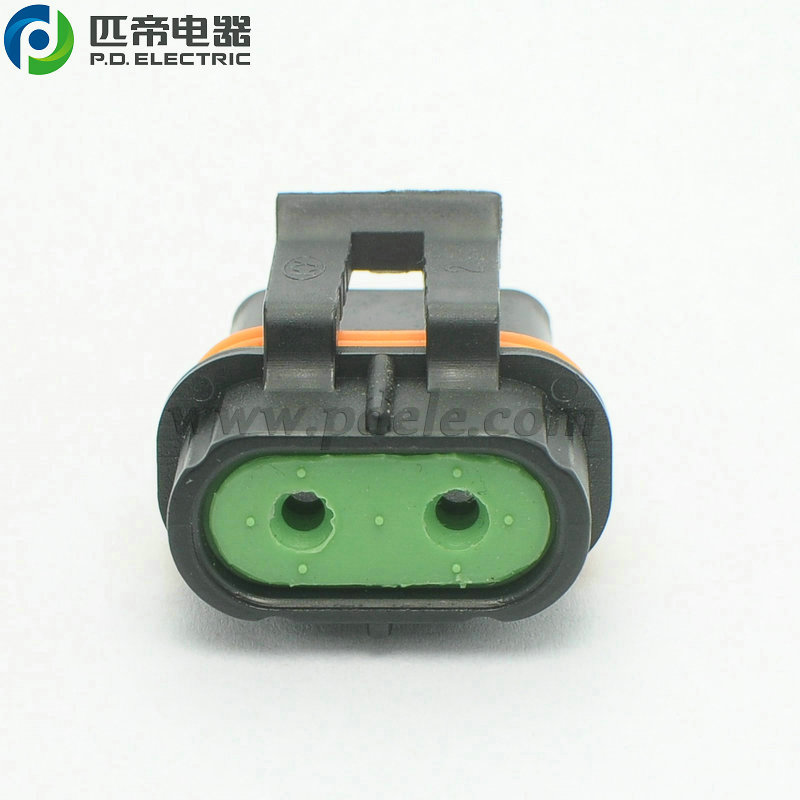 1P1028 2 Wires Electrical Connector of Engine Cooling Fan Motor /& Fuse Holder