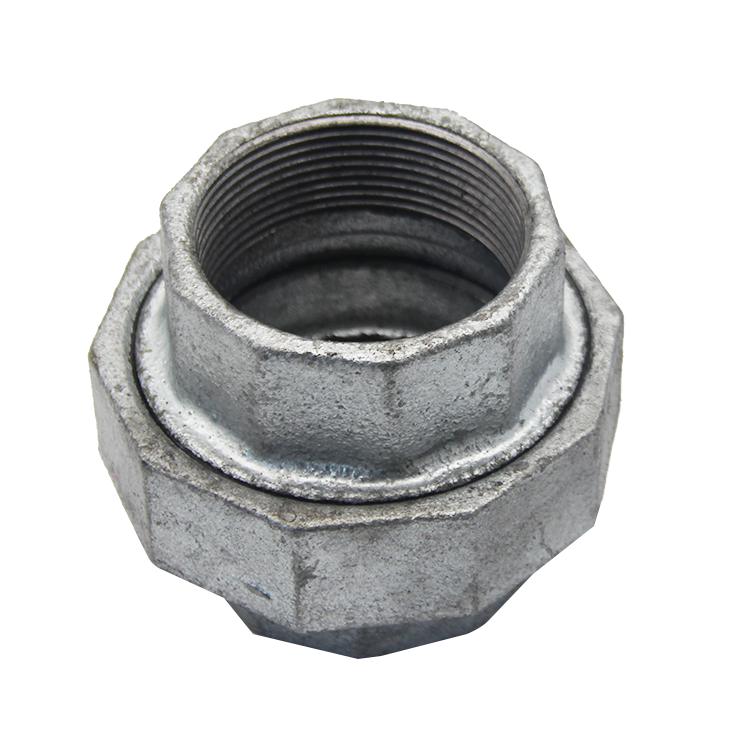 Thread malleable iron galvanised union pipe fittings