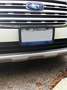 A NASA-like Rubber Front License Plate Bracket Frame Tag Holder Guard Bumper for SUBARU