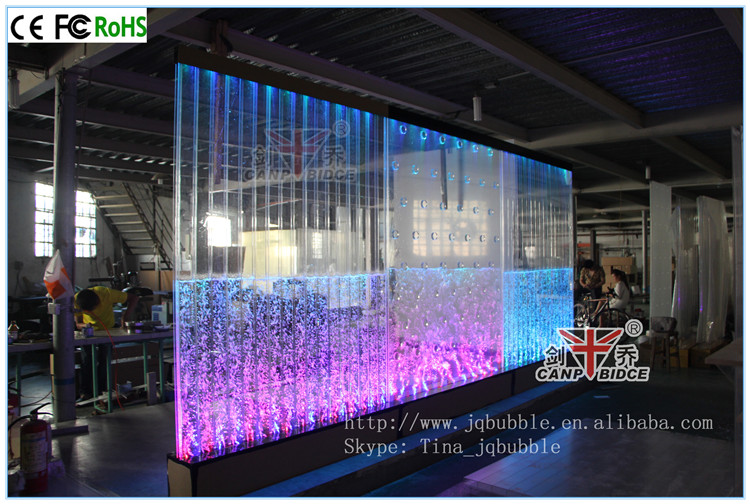 Indoor Water Fountain Shiny Aquarium Bubble Wall Feng Shui Decor ...