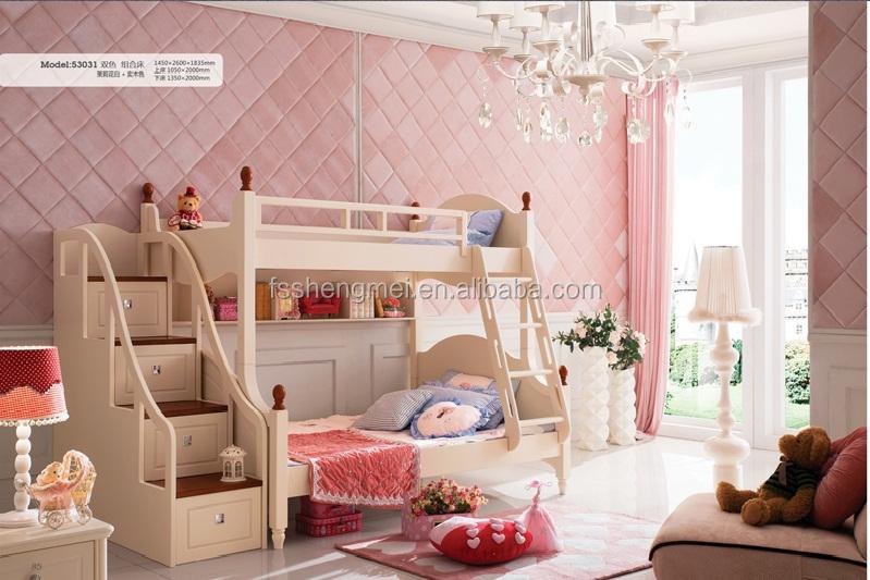 Goede kwaliteit mooie kamer meisjes slaapkamer meubilair stapelbed buy product on - Tiener meisje mezzanine slaapkamer ...