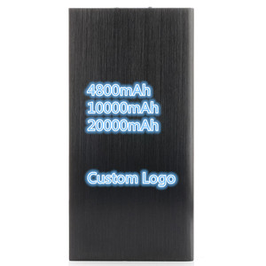 Custom Logo Power Bank 20000mAh LED External Battery Portable Mobile Fast Charger Dual USB Power bank Charger