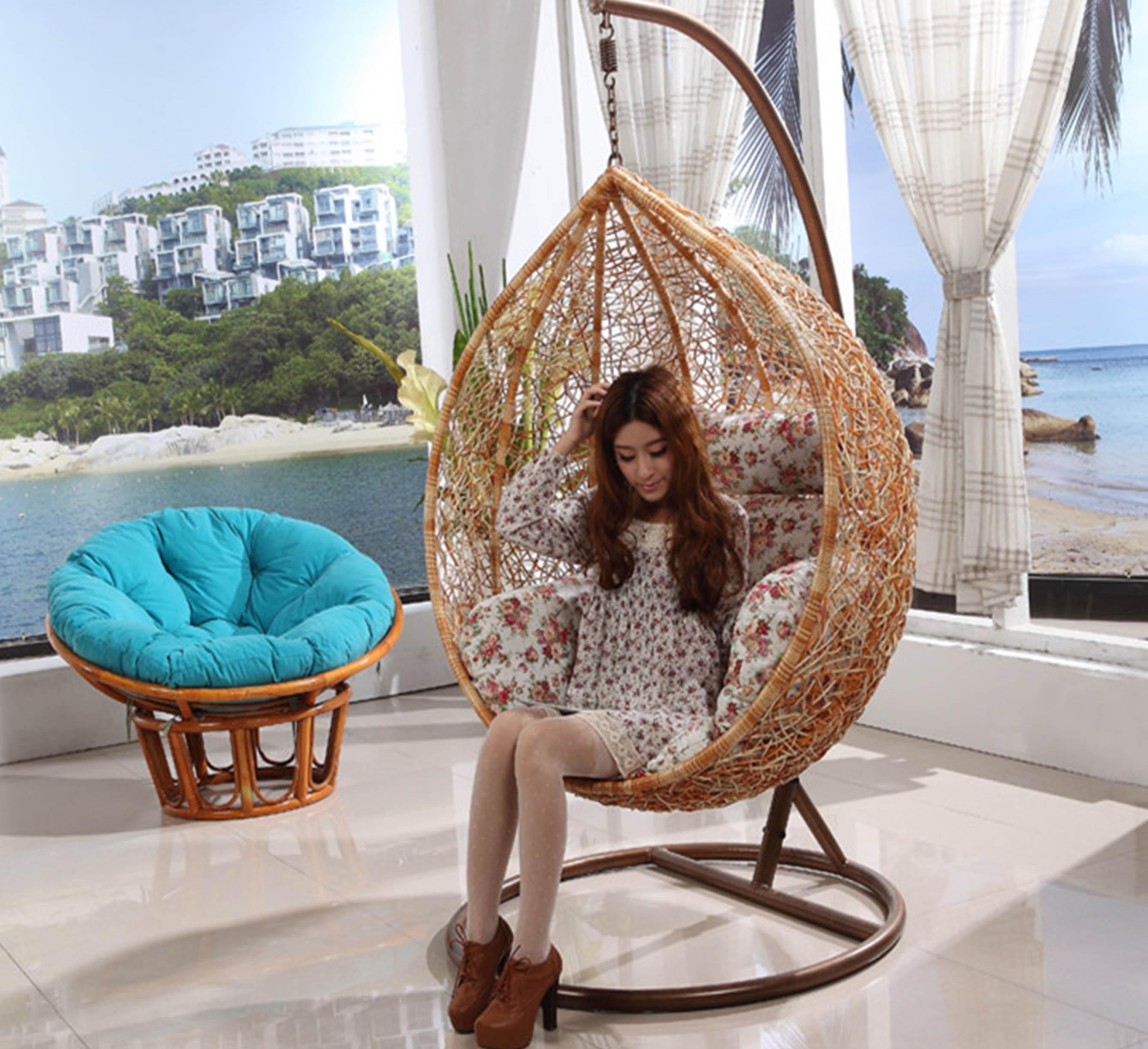 h ngesessel rattan badezimmer schlafzimmer sessel m bel design ideen. Black Bedroom Furniture Sets. Home Design Ideas