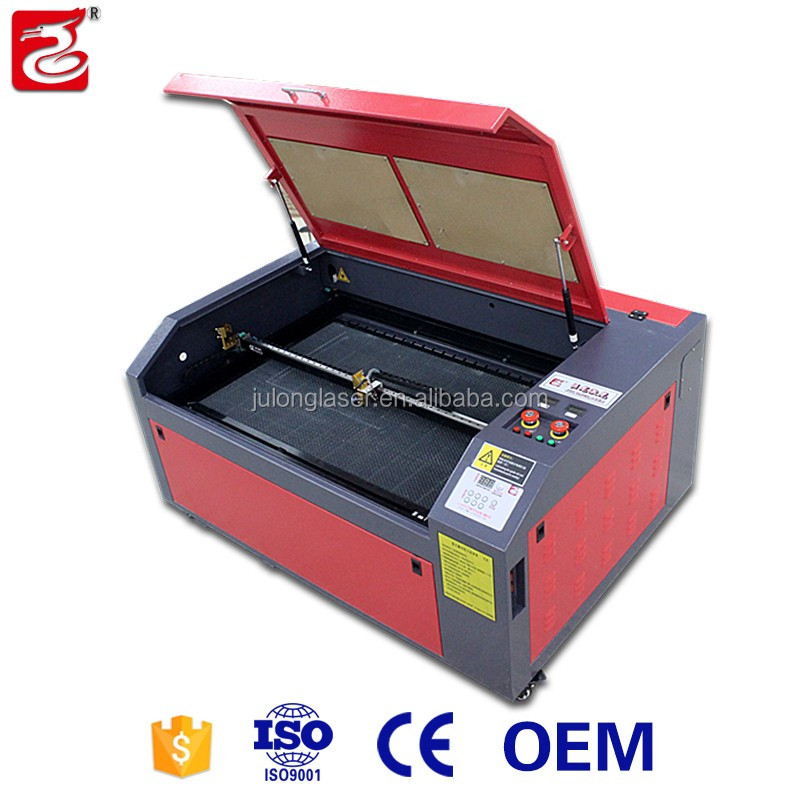 Liaocheng Julong 9060/ 1060/ 1080 acrylic laser cutting machines price, laser cutter for wood