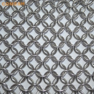 Square 5x5 Inch Stainless Steel Iron Cleaner / Metal Ring Mesh