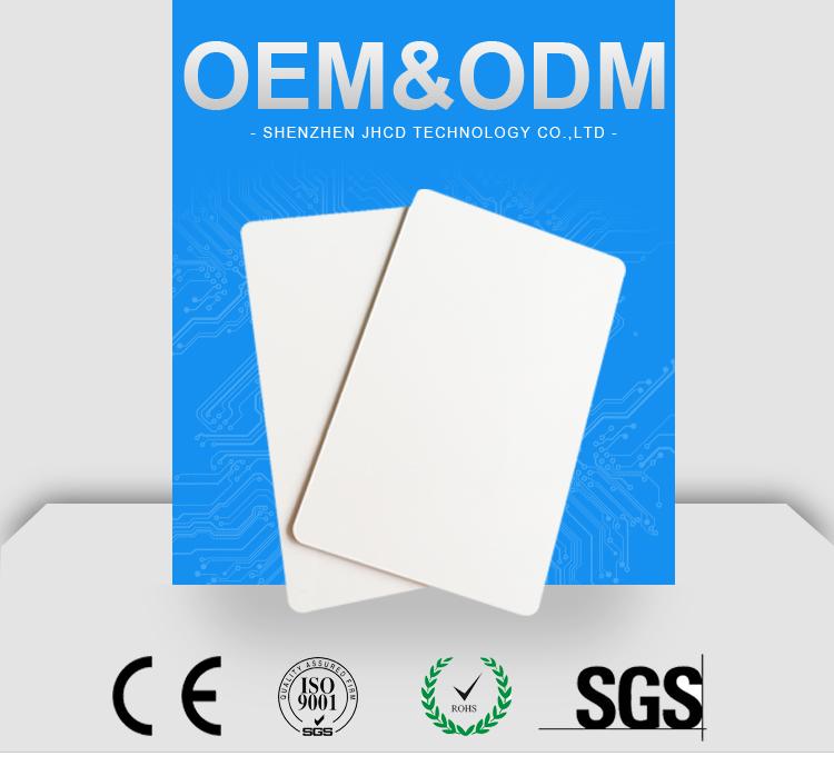 Thermische Printing Plastic Nfc Inkjet Kaarten Printable White Rfid Smart Chip Lege Pvc Id-kaart