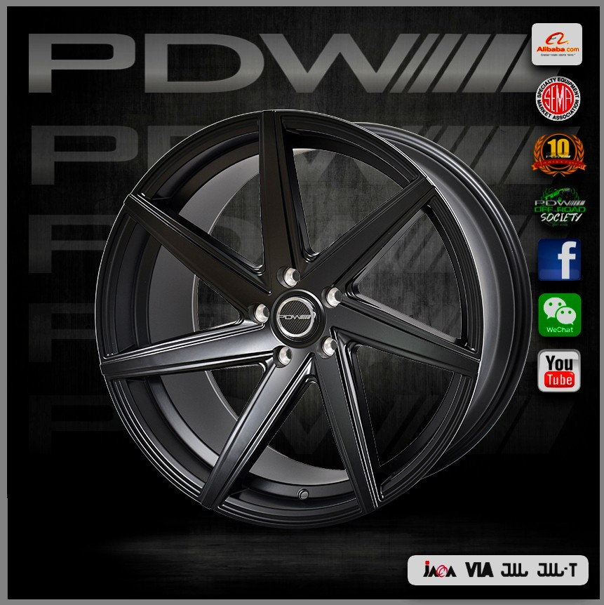 PDW brand 19 inch alloy wheels, China alloy wheel factory since 1983