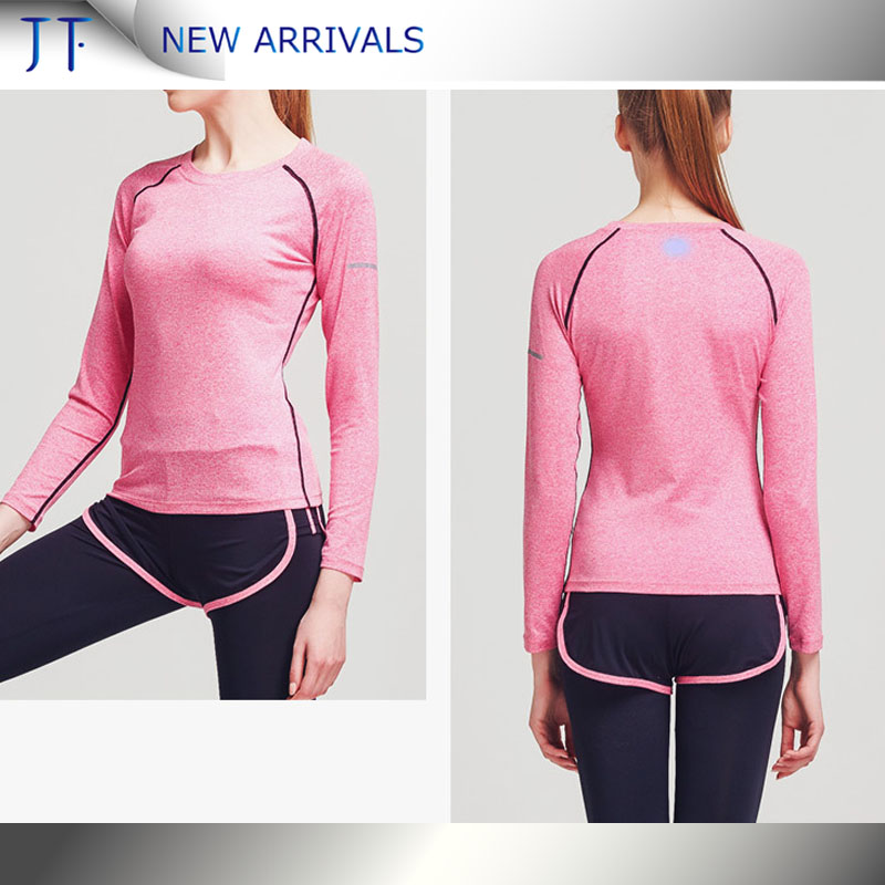OEM wholesale fitness custom stretch high quality women sports workout t-shirts clothing fashion hot sale yogo t-shirts