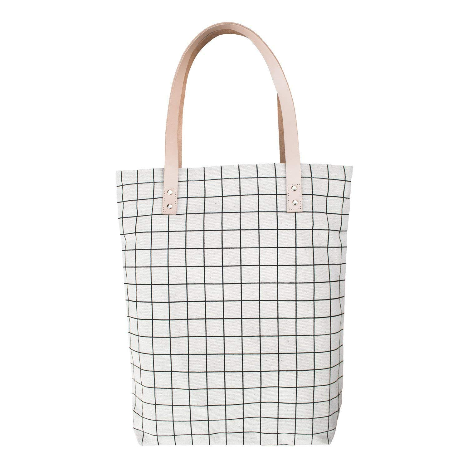 c3655f9a8817 Heavy Duty Canvas Tote Bag Black Lines Design - Leather Straps and Zipper.  36.0. Women s Heavy Duty Canvas Tote Bag DOIOWN Canvas Shoulder Bag Work ...