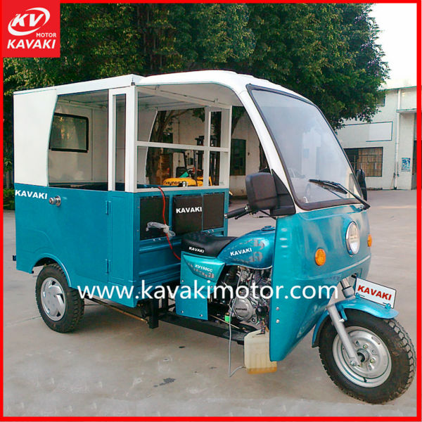 India Bajaj Style Customer Tricycle/Car With 2 Side Doors