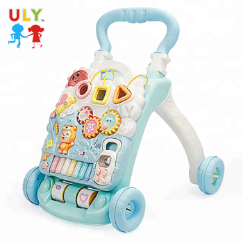 2019Safe kid learning walking trolley toy baby walker with music