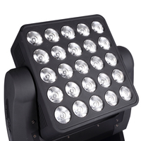 DMX Sharpy Matrix 5X5 Pixel Beam Infinite Rotating 25*10W 12W 15W RGBW 4in1 LED Moving Head