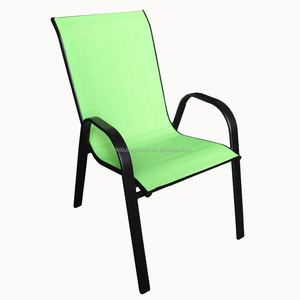Classic design cheap stacking metal garden chair with fabric sling