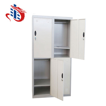 Clic Changing Room 4 Door Locker Lock Office Metal Storage Cabinet Factory Worker Wardrobe