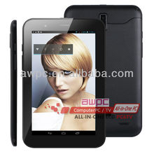 2012 Newest!!! 7 inch video call android tablet pc with GPS+Bluetooth+512MB Ram+dual SIM card slot