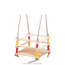 swing wooden baby swing wooden beaded baby swing