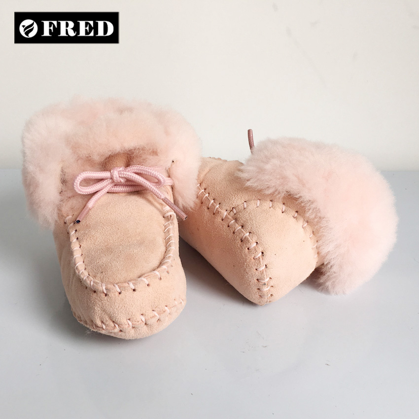 Wholesale USA luxury OEM sheepskin boots for baby