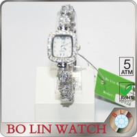 Hermosa Jewelry 925 Sterling Silver Rectangle Shape Dial Women Jewelry Watch