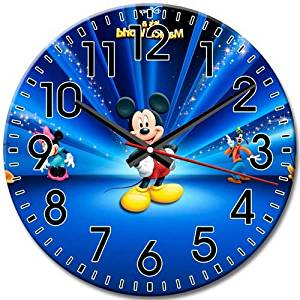 Collection Arabic Numbers Round Wall Clock Silent Frameless Advanced Disney Epic Mickey 10 Inch / 25 cm Diameter