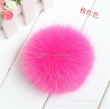 Professional raccoon fur pom poms / accessory faux ball made in China