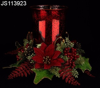 Christmas Candle Rings.Christmas Candle Rings With Glass Candle Holder And Led Candles Buy Candle Rings Product On Alibaba Com