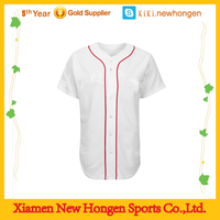 top quality classic look women baseball jersey/wholesale plain white mesh baseball jerseys