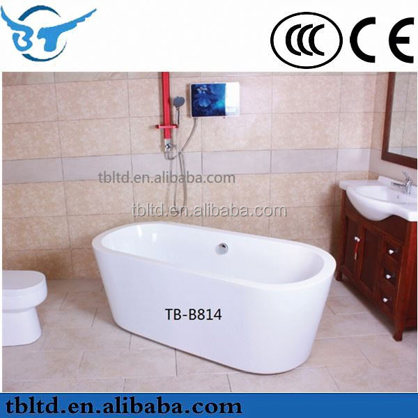 whirlpool bathtub for two persons/Waterfall/Air bubble colorful light jets/CE approved