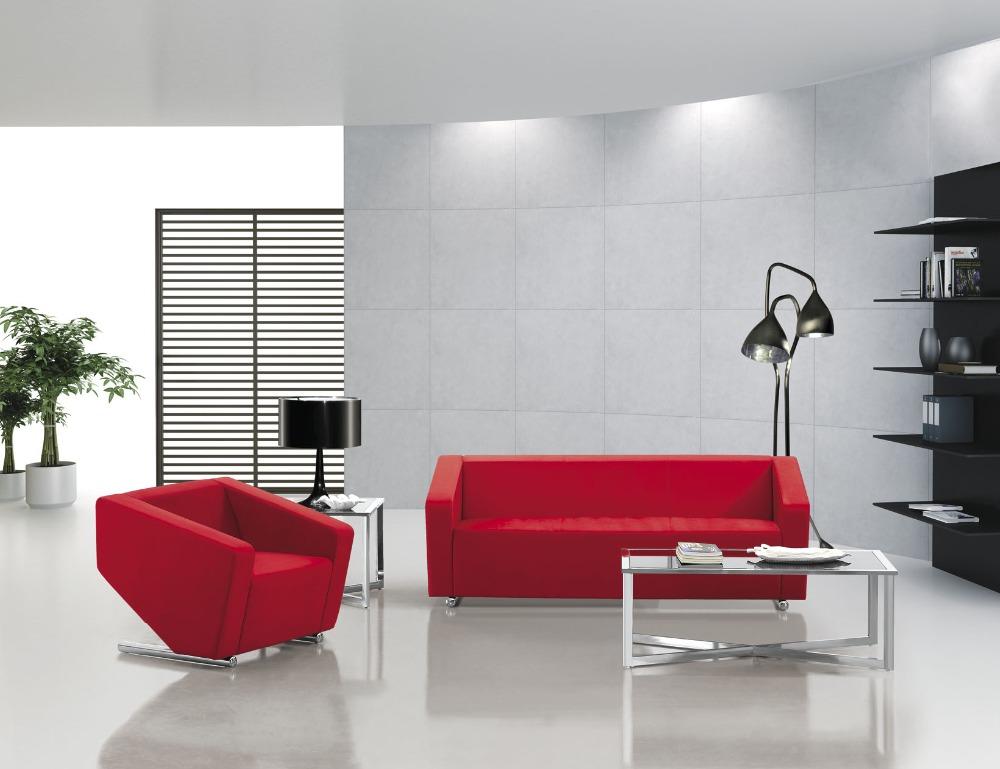 Modernen Roten Leder Buro Sofa Stoff Buro Sofa Klassiker Buro