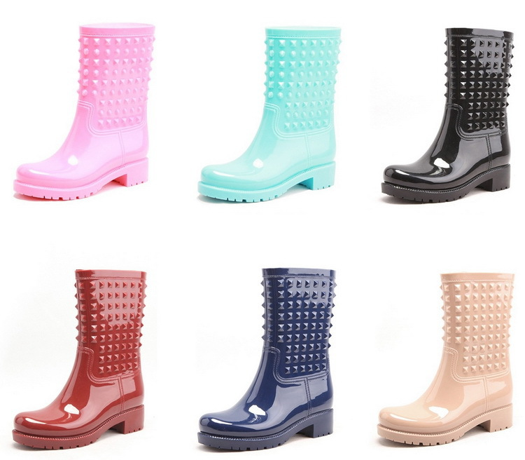 Sexy Ladies High Quality Plastic Boots For Rain Pvc Rain Boot