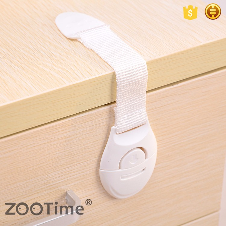 Drawer Toilet Multi-function Cloth Belt Safety White Safety Lock