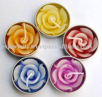 Tea light, tealigfht, T-Light rose flower candle
