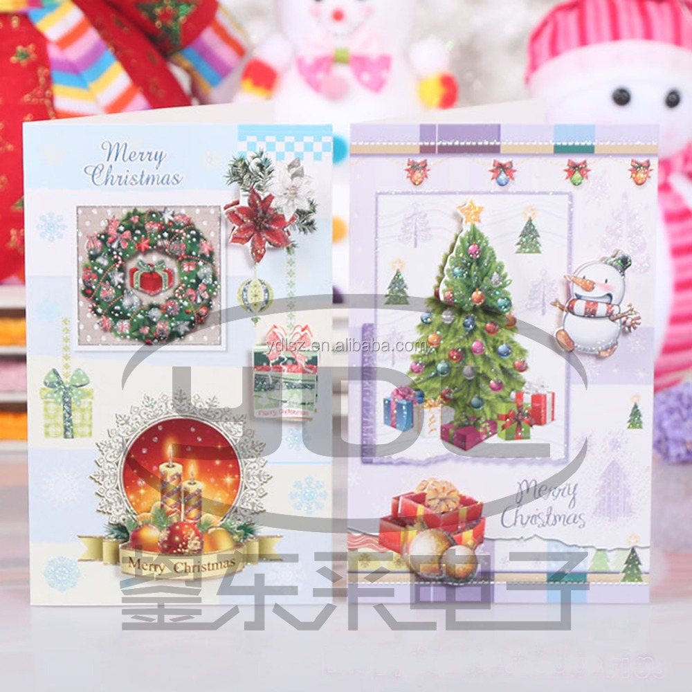 Hand Work Sound Christmas Greeting Cards Buy Hand Painted