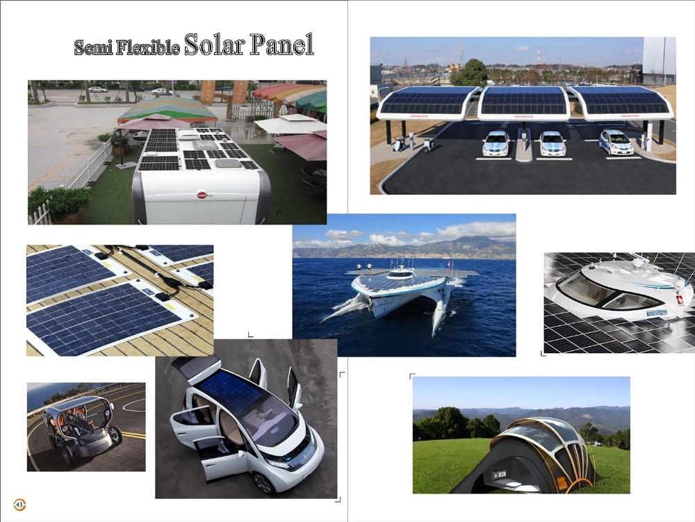 100 Watt 190 w ETFE pannello solare flessibile 200 w per la Batteria Ricaricabile, di Energia solare