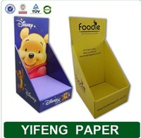 China manufacturer folding carbon custom logo corrugated cardboard paper display box for bottles