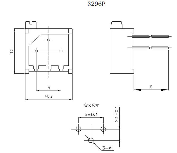 Multi-turns 3296 trimmer potentiometer 1k 5k 10k 50K 100K for bourns 3296,  View bourns 3296, Bonens Product Details from Sichuan Qixing Electronics