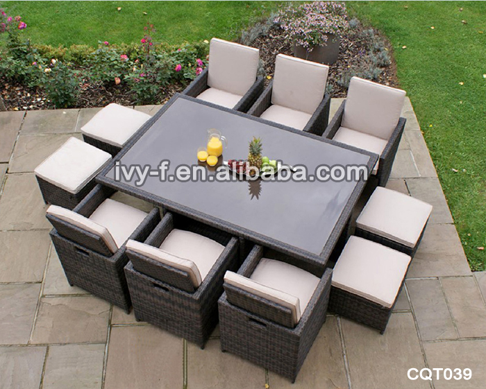 Rattan Chair With Hidden Ottoman Glass Cube Coffee Table