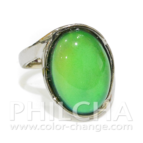 Color Changing Jewelry Elegant Oval Mood Stone Ring For Women