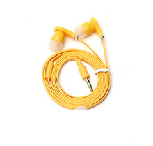 Flat Cable 3 5mm Earbud Earphone Headphone headset For Samsung iPhone 5 6 6s Stereo Bass