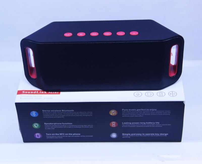 S204 MINI Bluetooth Speaker 5W Dual Boss Horn TF USB FM Wireless Portable Music Sound Box Subwoofer Loudspeakers with Mic