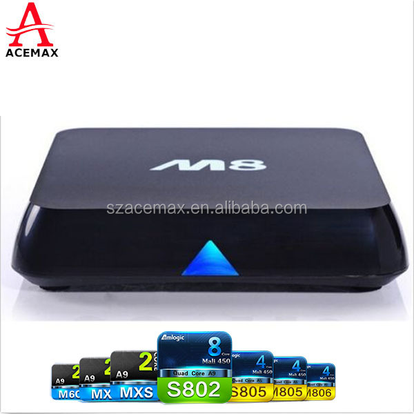 Android 5.1 OS M8 M8N Android TV Box with Famous APPS & ADD ONS Pre-installed support 4K Quad core