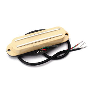 Dual Rail Single Coil Humbucker Pickup 4 Wire for Electric Guitar