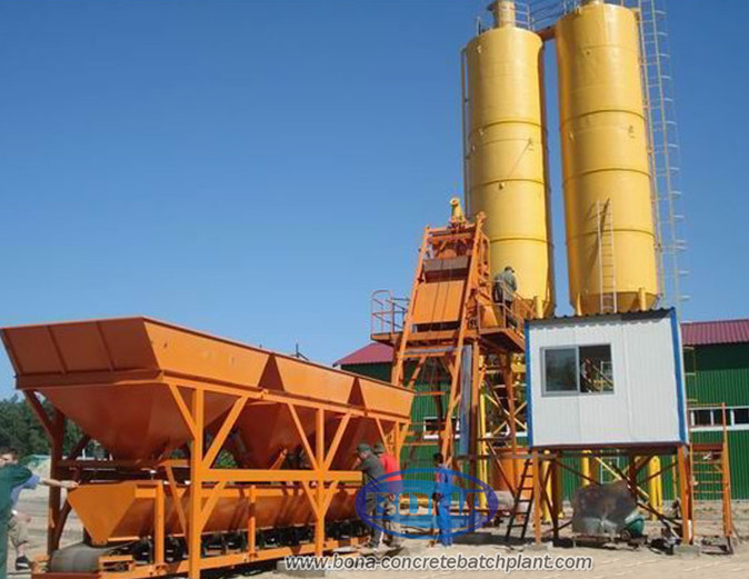 Beton Machine Mini Concrete Mixing Plant With High Effciency